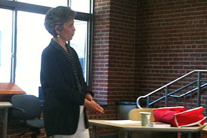 Photo: Olivia Golden discussed her new book, Reforming Child Welfare.
