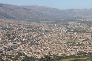 View of Cochabamba from the Cristo, photo by Meghan Meros