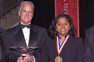 Jack Cassell SOC/BA '77 and Esther Benjamin SIS/MA '92; CAS/MA '95 were honored at the 2009 President's Circle Dibnner.