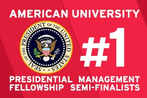 American University is Number 1 with 59 PMF Semi-Finalists for 2016.