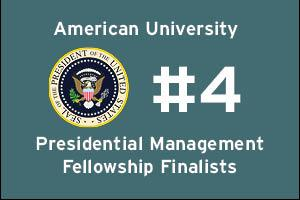 American University ranks fourth in Presidential Management Fellowship Finalists.