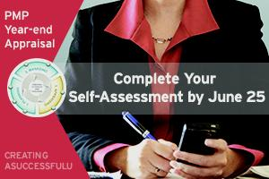 2015 PMP Year-end Assessment due by June 25