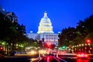 Washington, D.C., Capitol Building at Night