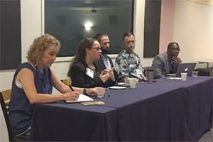 Left to right: Leisha DeHart-Davis, Alisa Fryar, Nathan Favero, Gregory Lewis, and Brian Williams.