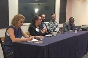 Left to right: Leisha DeHart-Davis, Alisa Fryar, Nathan Favero, Gregory Lewis, and Brian Williams.