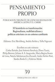 Cover of journal Pensamiento Propio