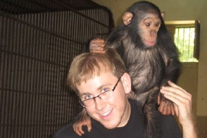 Chip Corbett with monkey