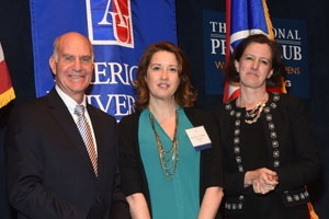 Provost Scott Bass, Professor Kathleen Gunthert, and Dean of Academic Affairs and Senior Vice Provost Mary Clark