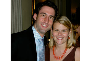 Paul Sanford, SOC/BA '98, and Carrie Stephenson Sanford, SPA/BA '99.