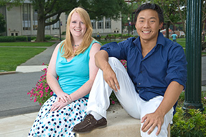 Joely Hildebrand and Garrett Harkins were selected for the U.S. Department of State's Thomas R. Pickering  Fellowship.
