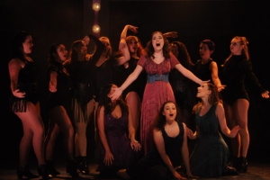 Spencer Coben and Janie Goheen perform in Pippin.