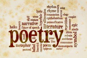 Word cloud representation of poetry