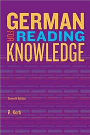 German for Reading Knowledge  Cover