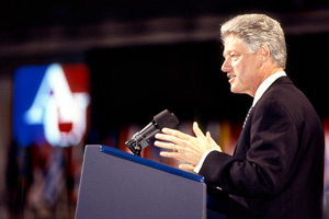 President Bill Clinton at AU in 1997.