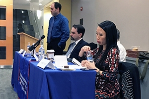 Panelists from the CCPS panel on the challenges of limiting presidential power under Trump.