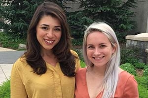 Natalie Hutchison and Erin McGoff