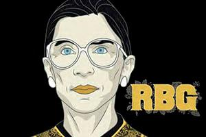 Ruth Bader Ginsburg event flyer