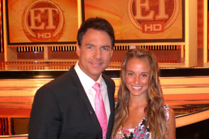 SOC Rachel Demita with ET Correspondent Mark Steines