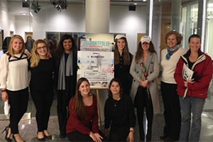 Students in Gemma Puglisi's PR portfolio class who worked with the non-profit group RappCats