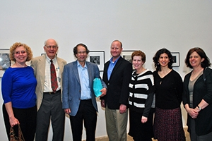 Professor Richard Breitman (third from left) with colleagues and friends at the April 13 retirement ceremony.