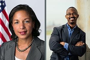 Ambassador Susan E. Rice and radio host Joshua Johnson