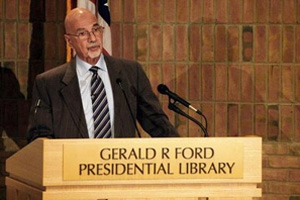 Ron Nessen speaks at the Gerald R. Ford Presidential Library