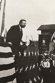 Theodore Roosevelt at McKinley cornerstone laying 1902