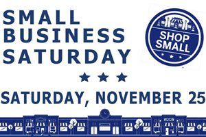 Small Business Saturday flier for November, 25