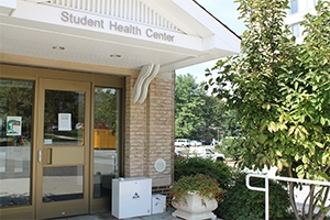 Entrance to Student Health Center