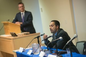 Panelist Trita Parsi speaks at the
