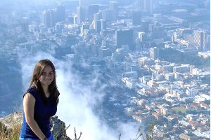 Karinna Berrospi, SIS/BA/MA '10, '11, overlooking Cape Town, South Africa. Photo courtesy of Karinna Berrospi.
