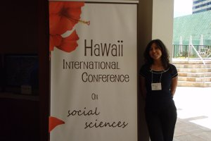 Seda Kirdar, SIS/MA '09, presented at the Annual Hawaii International Conference on Social Sciences. Photo courtesy of Seda Kirdar.