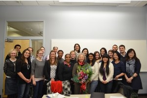 Professor Linda Lucia Lubrano and her fall 2012 Theories of Comparative and International Studies students.
