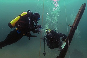 SOC Alum David Ruck explored shipwreck
