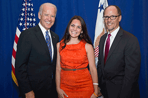 SOC Taylor Prochnow with Joe Biden