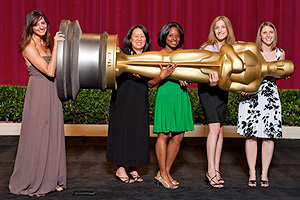Photo: Lauren DeAngelis '08, right, won bronze at the 2009 Student Academy Awards