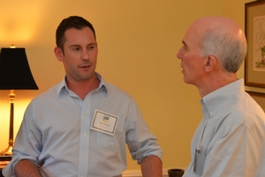 Photo of Dr. Stephen Silvia and student Brett Collop at the 2013 IER Reception.