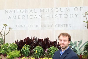 Jacob Motz, SOC/SPA '14, interned at the National Museum of American History in Summer 2013.