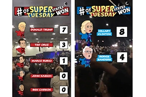 Snapchat breaks down the results of Super Tuesday 2016.