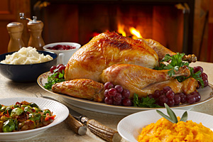 Many favorite holiday foods can be healthful choices when prepared with minimal added sugar, fat, and salt and consumed in moderation.