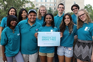 Student ambassadors help spread word on new tobacco free policy.