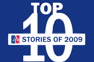 AU's Top 10 Stories of 2009 graphic.