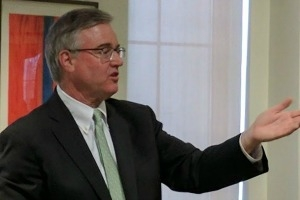 Photo of David Trone lecturing