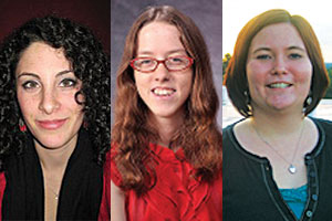 Harry S. Truman Scholarship finalists from left to right: Lauren Barr, Emily Pfefer, and Kelsey Stefanik-Sidener.