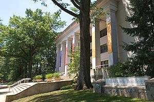 Photo of Ward Circle Building, the home of the School of Public Affairs at American University