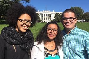Carlos Vera with friends at the White House.