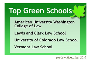 WCL was named one of the greenest law schools