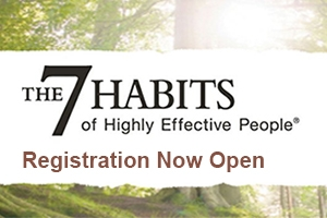 The 7 Habits of Highly Effective People, registration now open