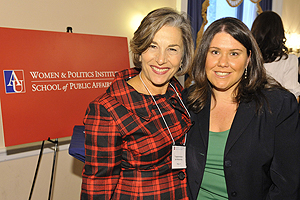 Jennifer Lawless at the Capitol Hill reception with Congresswoman.