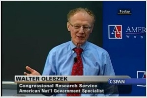 Walter Oleszek appearing on C-SPAN